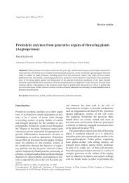 Proteolytic enzymes from generative organs of flowering plants ...