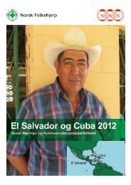 Se rapporten om arbeidet i El Salvador og Cuba 2012 her. - NNN