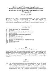 Satzung Bachelorstudiengang Stand 22.04.2009 - Hochschule ...
