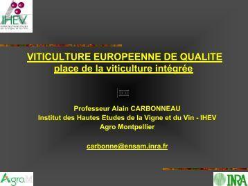 VITICULTURE EUROPEENNE DE QUALITE