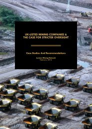 UK listed mining companies and the case for stricter oversight ...