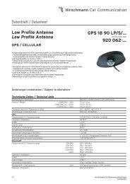 GPS 18 90 LP/S - Hirschmann Car Communication