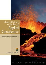 Applied Geosciences - Faculty of Science, HKU - The University of ...