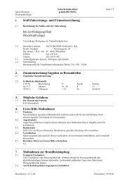 Stoff/Zubereitungs- und Firmenbezeichnung Ink-Jet-Reinigungsfluid ...