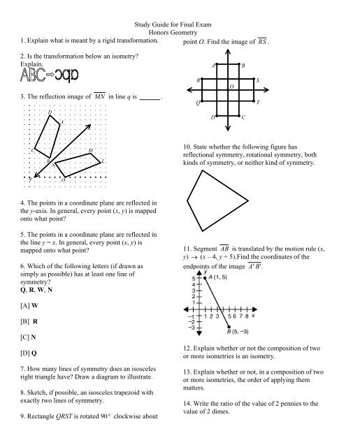 Geometry Second Semester Final Exam Answer Key Pdf / Apex ...