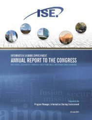 Information Sharing Environment 2013 Annual Report to ... - ISE.gov