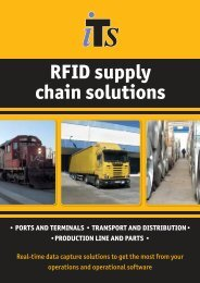 RFID supply chain solutions - International Terminal Solutions