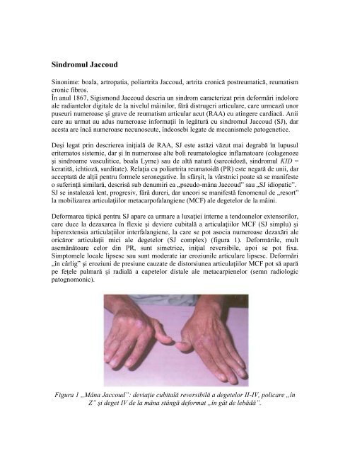 boală cronică articulară latină
