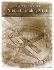 2011 NAWS Product Catalog - Narcotics Anonymous