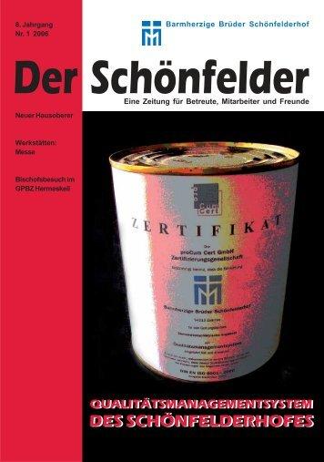 8. Jahrgang Nr. 1 2006 - Barmherzige Brüder Schönfelderhof