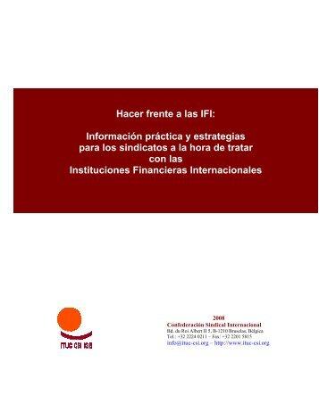 Hacer frente a las IFI: Información práctica y estrategias ... - CCOO