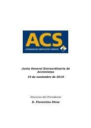 Discurso del Presidente - Grupo ACS