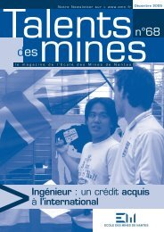 Talents des mines n°68 - Ecole des mines de Nantes