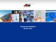 Group presentation PDF File - CIR Compagnie Industriali Riunite