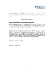 Modificación Reglamento del Consejo de Administración