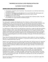 memphis zoo edzoocation program policies saturday scout program