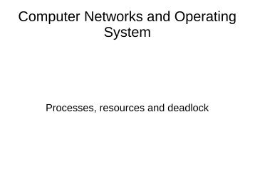Computer Networks and Operating System