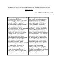 Poema dedicado a Profesores Jubilados dela Universidad ...