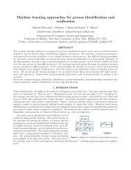 Machine learning approaches for person identification and ... - CEDAR