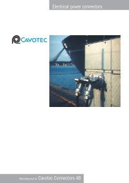Electrical power connectors Manufactured by Cavotec ... - Elec.ru