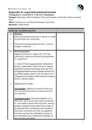 Dagsorden for organisationsbestyrelsesmøde - Boligforeningen 3B