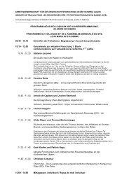 Programm - Archäologie Schweiz