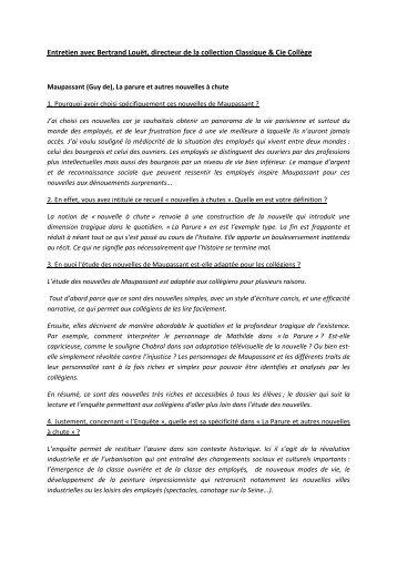 Entretien avec Bertrand Louët, directeur de la collection ... - Decitre