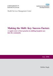 Making the Shift: Key Success Factors - Manajemen Rumah Sakit ...