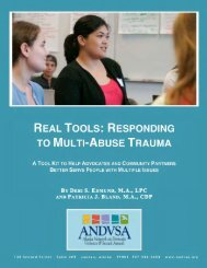 Real Tools: Responding to Multi-Abuse Trauma - National Center on ...