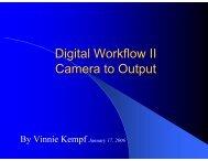 Digital Workflow II Camera to Output - Ridgewood Camera Club