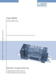 Bedienungsanleitung Typ 8650 AirLINE Ex - Bürkert Fluid Control ...