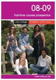 Full-time course prospectus - City College