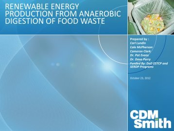Food Waste Digestion Pilot Startup and Operations - pncwa