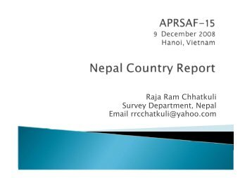 Nepal Country Report - APRSAF