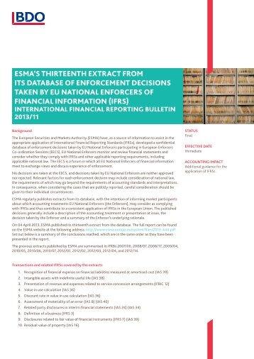 IFRB-2013-11 - BDO International