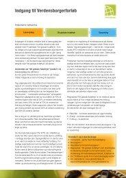 Indgang til Verdensborgerforløb - Energitjenesten