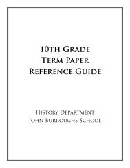 10th Grade Research Paper Reference Guide - History Department ...