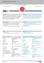 KAWEFLEX® 3340 SK TP C PUR - TKD-KABEL | Продукция