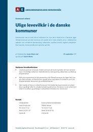 Ulige levevilkår i de danske kommuner - Dansk Produktions Univers