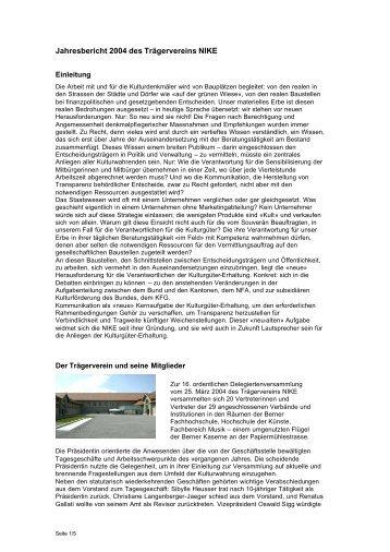 Jahresbericht 2004 - Nationale Informationsstelle für Kulturgüter ...