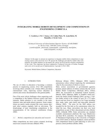 integrating mobile robots development and competitions in ...