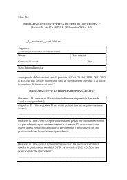 Mod. N.1 DICHIARAZIONE SOSTITUTIVA DI ATTO DI NOTORIETA ...