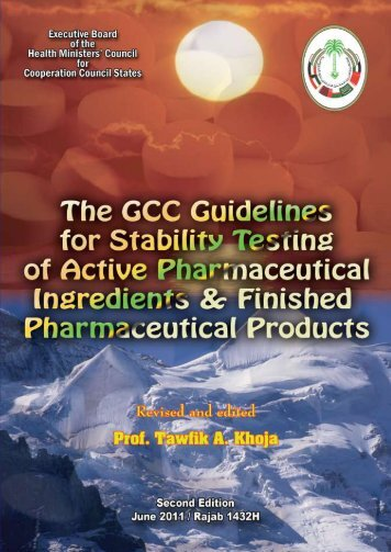 The GCC Guidelines for Stability Testing of Active Pharmaceutical ...