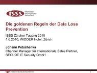 Die goldenen Regeln der Data Loss Prevention - ISSS