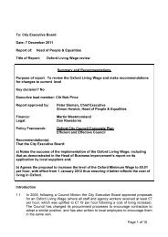 Living Wage - Oxford - Review PDF 138 KB - Oxford City Council