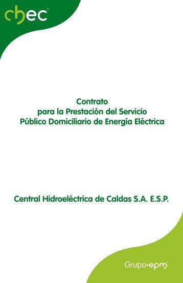 Central Hidroeléctrica de Caldas S.A. E.S.P. Contrato para la ... - Chec