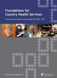 Foundations for Country Health Services - WA Country Health Service