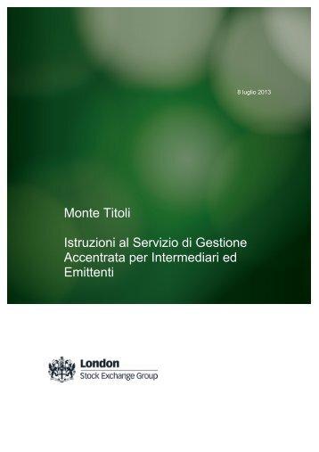 Monte Titoli Istruzioni al Servizio di Gestione Accentrata per ...
