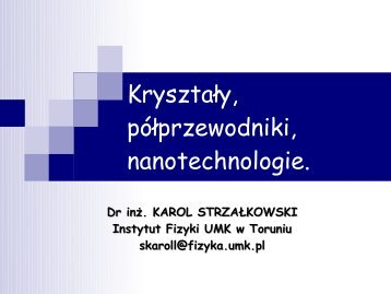 Wyklad VI - z dnia 22.V.2010.