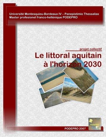 Le littoral aquitain à l'horizon 2030
